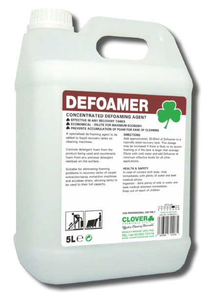 Clover Defoamer 5L - Concentrated Defoaming Agent .